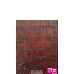 55741 SAFRAN POLIPIEL GRABADA (02) 140 CM. PVC 86%-POL.16% ROJO VENTA EN PZAS. DE 10 M. APROX.