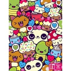 62784 TEJIDO ESTAMPADO CARTOON ANIME () 1.50 M. ALG. 100% MULTI VENTA EN PZAS. DE 10 M APRO