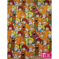 61812 PATCH. AMERICANO SCOOBY DOO (01) - 110 CM. ALG. 100%  MULTICOLOR