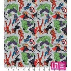 58926 PATCH.AMERIC. SUPER MARVEL HEROES (01)  110 CM. ALG. 100% MULTI