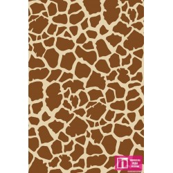 62667 TEJIDO ESTAMPADO ANIMAL SKIN JIRAFA () 1.50 M. ALG. 100% MULTI
