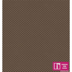 62798 TEJIDO ESTAMPADO DOTTY () 1.50 M. ALG. 100% MARRON