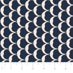 P108-29180307-02 PATCH. AMERICANO NIGHT CIRCUS (07) 110 CM. ALGODON 100% NEGRO/MARFIL VENTA EN PZAS. DE 7 M. APRO