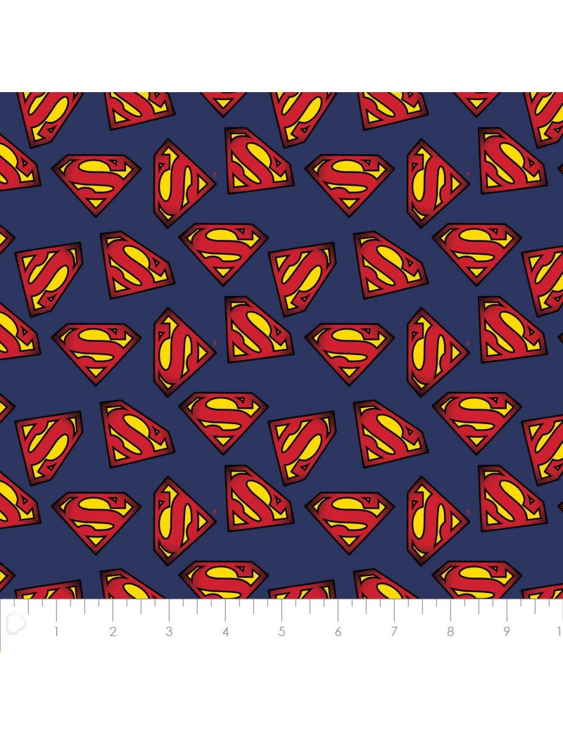 P108-23400704-02 PATCH. AMERICANO SUPERMAN (09) 110 CM. ALGODON 100% MARINO VENTA EN PZAS. DE 7 M. APRO