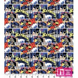 61149 PATCH.AMERIC. BATMAN THWACK POP COMIC () 110 CM. ALGODON 100% MULTI VENTA EN PZAS. DE 10 M