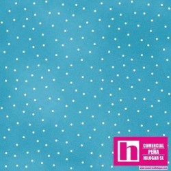 P0017-MAS8119-Q PATCH. AMERICANO BEAUTIFUL BASICS-SCATTERED DOT (112) 110 CM. ALGODON 100% AGUA/BLANCO VENTA EN PZAS. DE 7 M.