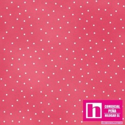 P0017-MAS8119-P2 PATCH. AMERICANO BEAUTIFUL BASICS-SCATTERED DOT (114) 110 CM. ALGODON 100% FUCSIA/BLANCO VENTA EN PZAS. DE 7 M.