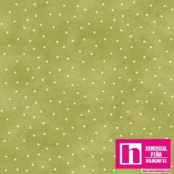 P0017-MAS8119-G PATCH. AMERICANO BEAUTIFUL BASICS-SCATTERED DOT (100) 110 CM. ALGODON 100% HIERBA/BLANCO VENTA EN PZAS. DE 7 M.