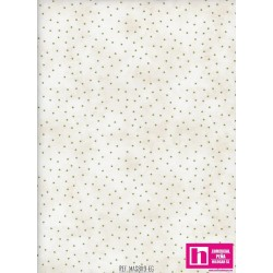 P0017-MAS8119-EG PATCH. AMERICANO BEAUTIFUL BASICS-SCATTERED DOT (86) 110 CM. ALGODON 100% NATURAL/VERDE VENTA EN PZAS. DE 7 M.