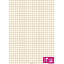 P0017-MAS610-WE1 PATCH. AMERICANO BEAUTIFUL BASICS-CLASSIC CHECK (51) 110 CM. ALGODON 100% MARFIL/BLANCO VENTA EN PZAS. DE 7 M.