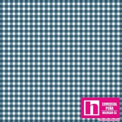 P0017-MAS610-NS PATCH. AMERICANO BEAUTIFUL BASICS-CLASSIC CHECK (72) 110 CM. ALGODON 100% AGUA/BLANCO VENTA EN PZAS. DE 7 M.