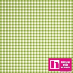 P0017-MAS610-GG3 PATCH. AMERICANO BEAUTIFUL BASICS-CLASSIC CHECK (61) 110 CM. ALGODON 100% CESPED/BLANCO VENTA EN PZAS. DE 7 M.