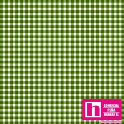 P0017-MAS610-G2 PATCH. AMERICANO BEAUTIFUL BASICS-CLASSIC CHECK (60) 110 CM. ALGODON 100% BOTELLA/BLANCO VENTA EN PZAS. DE 7 M.