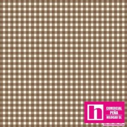 P0017-MAS610-A3 PATCH. AMERICANO BEAUTIFUL BASICS-CLASSIC CHECK (49) 110 CM. ALGODON 100% MARRON/BLANCO VENTA EN PZAS. DE 7 M.