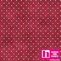 P0017-MAS609-MP PATCH. AMERICANO BEAUTIFUL BASICS-CLASSIC DOT (23) 110 CM. ALGODON 100% MAGENTA/BLANCO VENTA EN PZAS. DE 7 M.