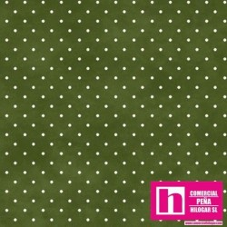 P0017-MAS609-GS PATCH. AMERICANO BEAUTIFUL BASICS-CLASSIC DOT (34) 110 CM. ALGODON 100% HIERBA/BLANCO VENTA EN PZAS. DE 7 M.