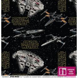 P86-2557-01 PATCH. AMERICANO STAR WARS 2020 (11)  110 CM. ALG 100% NEGRO VENTA EN PZAS. DE 7 M APRO