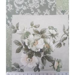 59412 PATCH.JAPONES NOZOMI (03) 110 CM. ALGODON 100% VERDE VENTA EN PIEZAS DE 6 M. APROX