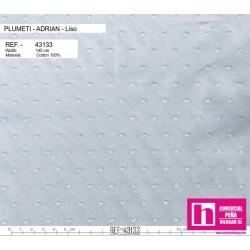 43133 ADRIAN PLUMETI LISO (18) 145 CM. ALGODON 100% GRIS VENTA EN PZAS. DE 7 M. APROX.