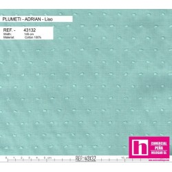 43132 ADRIAN PLUMETI LISO (09) 145 CM. ALGODON 100% AGUA VENTA EN PZAS. DE 7 M. APROX.
