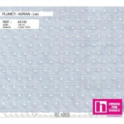 43130 ADRIAN PLUMETI LISO (11) 145 CM. ALGODON 100% CELESTE VENTA EN PZAS. DE 7 M. APROX.