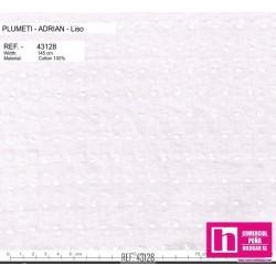 43128 ADRIAN PLUMETI LISO (01) 145 CM. ALGODON 100% MARFIL VENTA EN PZAS. DE 7 M. APROX.