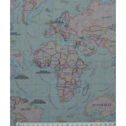 59039 TEJIDO ESTAMPADO MAPAMUNDI (01) 1.50 M. ALGODON 100% MULTICOLOR VENTA EN PZAS. DE 10 M. APRO